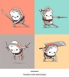 Samurai sushi on Behance