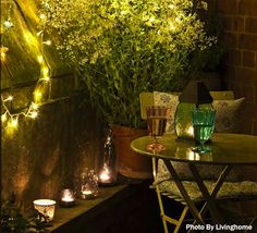 Small Patio Lighting great for small patios #pier1outdoors #ad