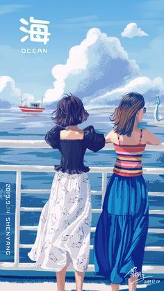 Personajes Studio Ghibli, Digital Art Girl, Illustrations And Posters, Anime Art Girl, Art Plastique, Aesthetic Art, Cartoon Art, Cute Drawings, Drawing Tips