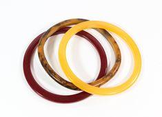 Bold Beautiful Designer Multi Color Heavy Resin Lucite Vintage Bangle Bracelet Singed Wearable Art