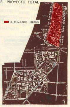 1950s. Plan Maestro Total Conjunto Urbano (Buenavista -Tlatelolco-Morelos-San Lázaro) U.H. Nonoalco Tlatelolco 1a etapa. Mario Pani