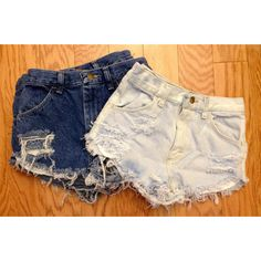 Plain Distressed High Waisted Shorts by Shopwunder ($46.00)