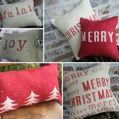 rustic christmas cushions