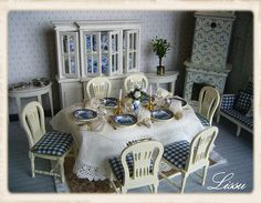 Gustavian Style by Lissus dollhouse, via Flickr