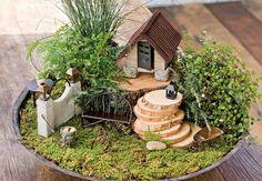 mini jardim com casinha