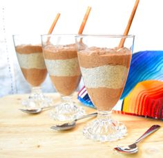 Mexican Hot Chocolate Chia Pudding Parfait #glutenfree #grainfree #paleo