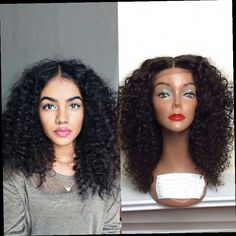 42.64$  Buy now - http://alit2m.worldwells.pw/go.php?t=32720488844 - Kinky Curly Synthetic Lace Front Wigs for Black Women Afro Wig Curly Synthetic Wigs Long Black African American Cheap Hair  42.64$