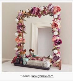 Diy crafts for home decor crafts for home flower projects crafts home decorations fab mirrors you . diy crafts for home Diy Crafts For Home Decor, Diy Room Decor, Home Craft Ideas, Flower Mirror, Flower Frame, Home Decor Mirrors, Decorating Mirrors, Diy Mirror Decor, Mirror Crafts
