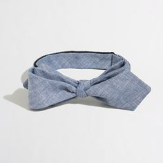 J.Crew Factory - Factory faded chambray bow tie