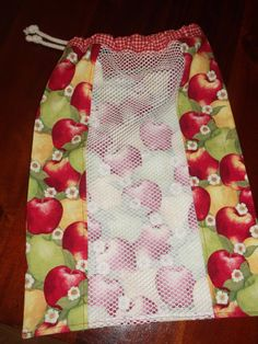 Reusable drawstring produce bag by AnnsCoolThreads on Etsy