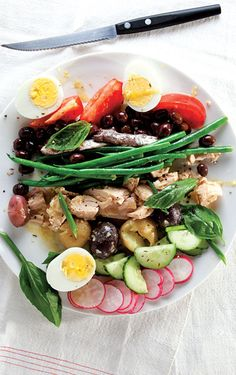 Salade Nicoise - Traditionally made with local olives, oil-cured tuna, and anchovies, this protein-rich salad from Provence has become a staple of brasseries all over France.