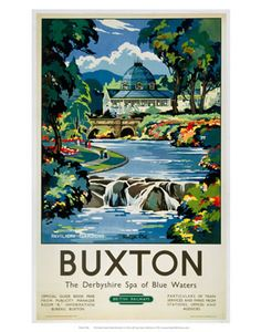 Inch Print (other products available) - British Railways (London Midland Region) poster of Pavilion Gardens at Buxton, Derbyshire. Artwork by Kenneth Steel.<br> - Image supplied by National Railway Museum - print made in the UK National Railway Museum, Railway Posters, Poster Prints, Art Prints, Derbyshire, Vintage Travel Posters, Cool Posters, State Art, Giclee Print