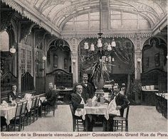 Postcard views of Beyoglu / Pera Istanbul Pictures, Ottoman Empire, Historical Pictures, Restaurant Design, Good Old, Once Upon A Time, Old Photos, The Past, Black And White