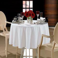 Toalha de mesa branca Karsten.