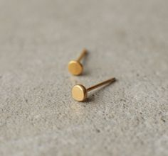 stud earrings, gold posts, gold earrings, Valentine's day, circle earrings, small studs, simple, hand made, one of a kind, freckles, baladi
