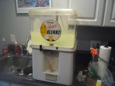 advertising industrial oasis juice dispenser reymers blennd #oasis