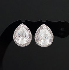 Wedding Jewelry Bridal Jewelry Bridal Earrings door earringsnation