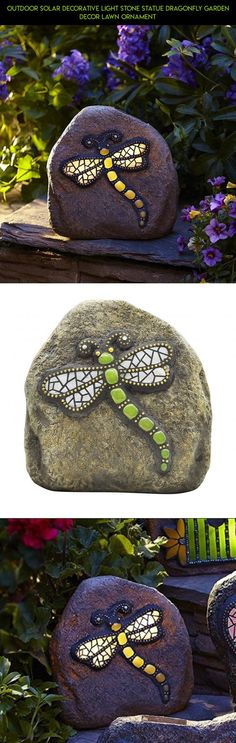 Outdoor Solar Decorative Light Stone Statue Dragonfly Garden Decor Lawn Ornament #gadgets #kit #camera #shopping #products #parts #racing #outdoor #plans #tech #drone #dragonfly #decor #technology #fpv