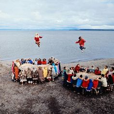 Nulukatuk, played here by native Alaskans, is a game in which individuals are tossed using a blanket. (photo: Ralph Crane—Time & Life Pictures/Getty Images. Via LIFE's Instagram)