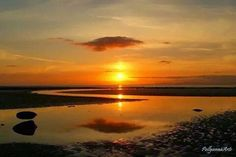 Sunset over the solway