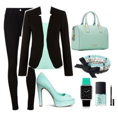 """Mint and Black"" by candybar-g ❤ liked on Polyvore featuring AG Adriano Goldschmied, Jane Norman, H&M, Rebecca Minkoff, Simply Vera, Casetify, NARS Cosmetics and Givenchy"