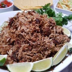 These Pressure Cooker Pork Carnitas {Mexican Pulled Pork} are crispy, yet deliciously moist and full of deep and complex flavors.  via @thisoldgalcooks
