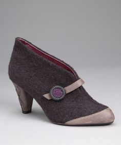 Take a look at this Charcoal Open for Business Bootie by Poetic Licence on #zulily today!