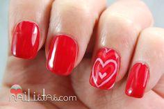 Nailistas: Uñas decoradas con corazones #mimamamemima