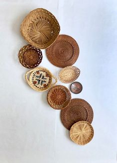 Your place to buy and sell all things handmade Wall Basket, Baskets On Wall, Hanging Baskets, Cottage Renovation, Bamboo Crafts, Investment Property, Eclectic Decor, Ethiopia, Plates On Wall