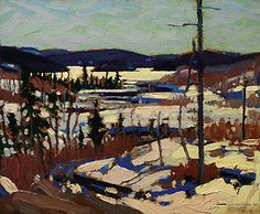 Early Spring, Canoe Lake by Tom Thomson of The Group of Seven. Unfortunately, none of us will be hanging this one on the wall. The Group of Seven's works generally sell for several million dollars but I wish I could own this! Amazing colours!