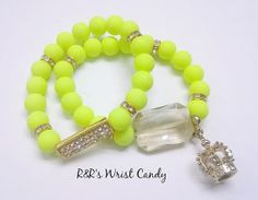 Hey, I found this really awesome Etsy listing at https://www.etsy.com/listing/177994178/queen-of-neon-bling-bracelet-set
