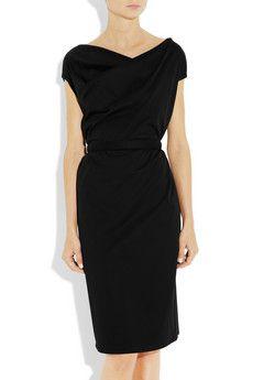 JIL SANDER  Belted stretch-cotton dress, vintage twist