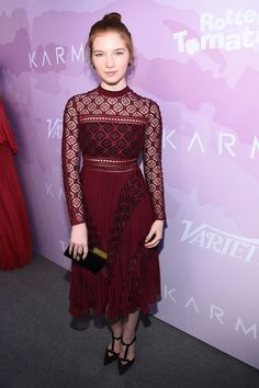 Annalise Basso wearing Self-Portrait at the Variety Awards Nominees Brunch in Los Angeles