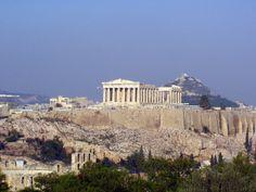 Athens Acropolis and Parrhenon.