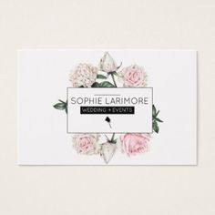 Elegant  Watercolour Roses Business Card - floral style flower flowers stylish diy personalize