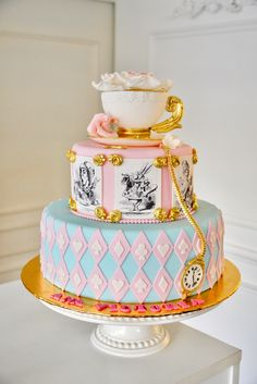 Alice in the Wonderland Cake By Delicatesse Postres Panama It's Your Birthday, Birthday Cakes, Birthday Ideas, Birthday Parties, Baby Party, Tea Party, Girly Cakes, Baby Pink Aesthetic, Quince Ideas