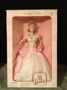 BNIB COLLECTOR EDITION FIRST IN THE SERIES!! BIRTHDAY WISHES BARBIE - 1998  #Mattel