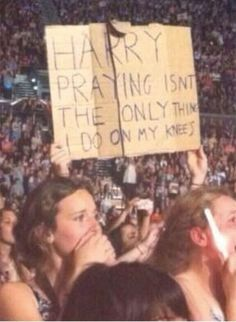 There's always a couple of sexual innuendoes. | 19 One Direction Fan Banners You Won't Believe Exist