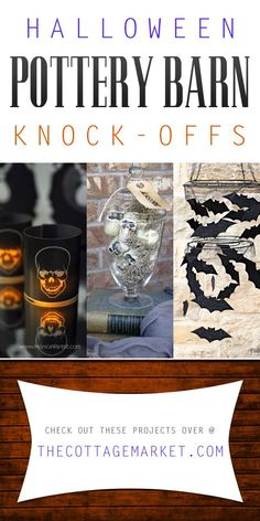 I love these diy Halloween Pottery Barn Knock-Offs. I am so excited to put out my halloween decor!