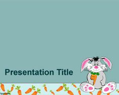 Rabbit PowerPoint template is a free kids PPT template design for kids presentations