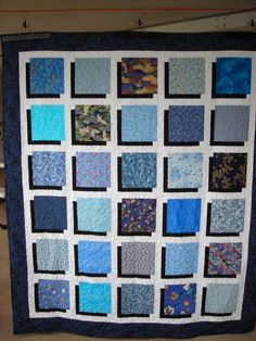 Shadow Box Quilt   Free Tutorial!     A lot of my quilting buddies wanted to know how this was made, and since it's such an easy quilt, I d...