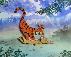 "Animation Collection: Production cel of Tigger and Rabbit from ""Winnie T..."