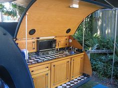 teardrop camper galley