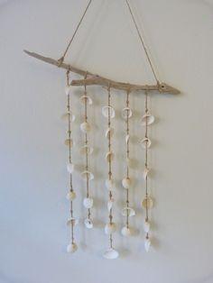 beachcomber driftwood shell mobile  www.etsy.com/listing/100607053/seashell-driftwood-mobile