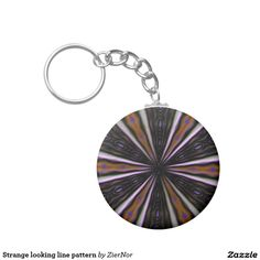 Strange looking line pattern basic round button keychain Round Button, Line Patterns, Washer Necklace, Buttons, Plugs