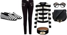 A fashion look from February 2013 featuring striped top, skinny jeans and slippers shoes. Browse and shop related looks. Fashion Looks, Stripes, Skinny Jeans, Polyvore, Shopping, Tops, Skinny Fit Jeans, Shell Tops, Line Art