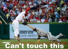Can't touch this! Cardinal baseball