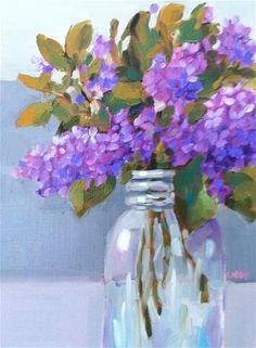 "Daily Paintworks - ""Dream of Lilacs"" - Original Fine Art for Sale - © Libby Anderson"