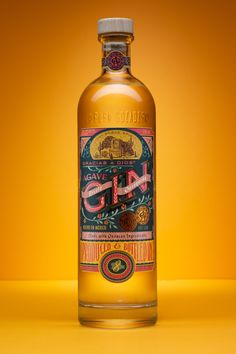 Packaging design project for Gracias a Dios Agave Gin Receta Oaxaqueña. A Gin infused with botanicals from the Oaxaca region, hand-illustrated, and using custom lettering in almost the whole label. Label Design, Packaging Design, Branding Design, Wine Design, Product Packaging, Packaging Ideas, Bottle Packaging, Bottle Labels, Gin Bottles