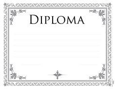 Pin Diplomas Para Imprimir Modelos De On Pinterest